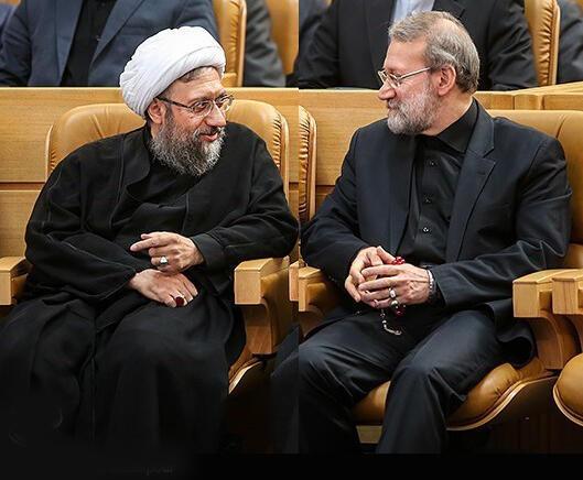 از چپ به راست: صادق و علی لاریجانی