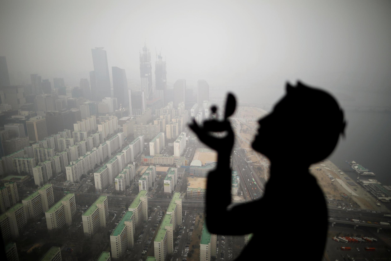 Contaminación en Seúl, Corea del Sur.