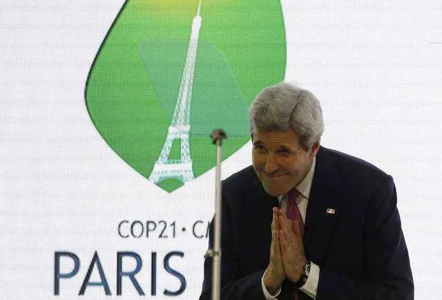 Ngoại trưởng Hoa Kỳ John Kerry tại Hội nghị COP21, Le Bourget (Pháp), ngày 09/12/2015.