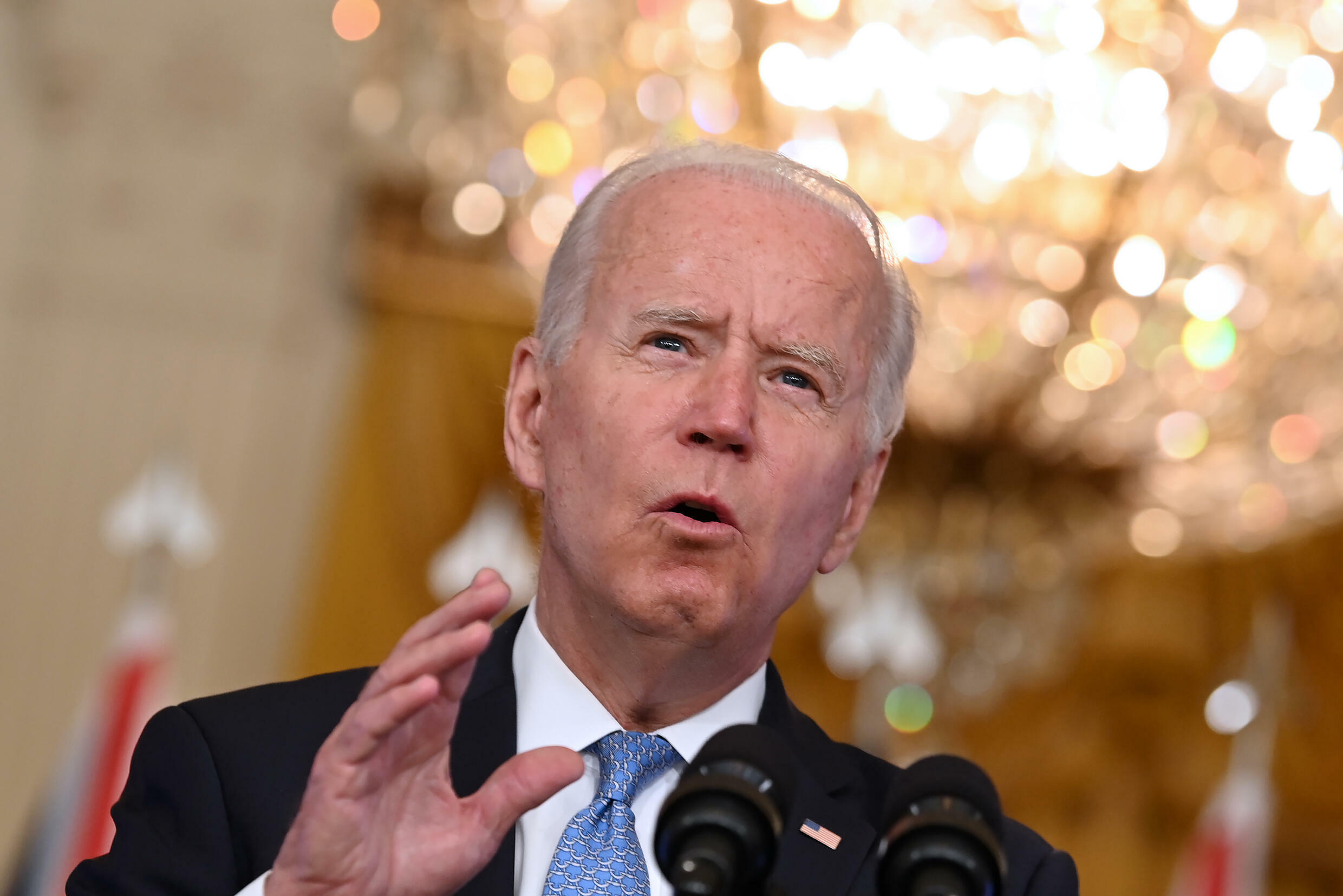 'I want to thank that fellow Down Under,' Biden said, apparently struggling to remember the name of the Australian prime minister