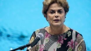 Rais wa Brazili Dilma Rousseff, Aprili 8, 2016, Rio.
