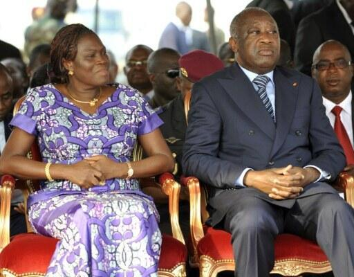 Simone (L) and Laurent Gbagbo