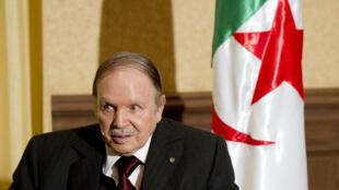 Le président algérien Abdelaziz Bouteflika, le 15 juin 2015 à Alger.