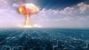 圖為網絡關於核武器科幻戰爆炸圖片