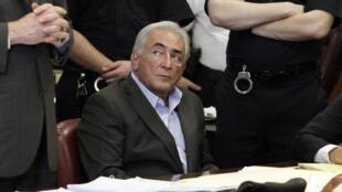 Dominique Strauss-Kahn durante a audiência do dia 19 de maio, em Nova York.