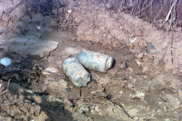 Minas antipessoais encontrada na Bósnia.