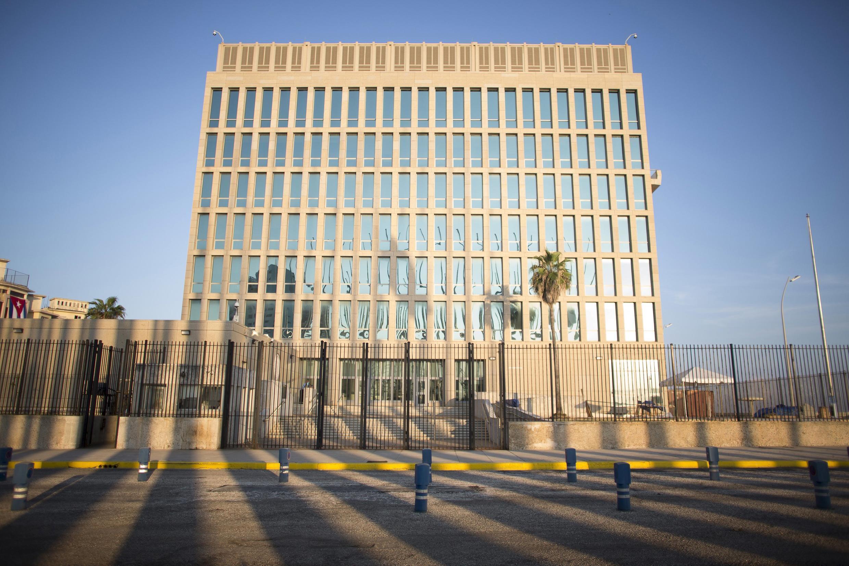 La Embajada de Estados Unidos en La Habana.