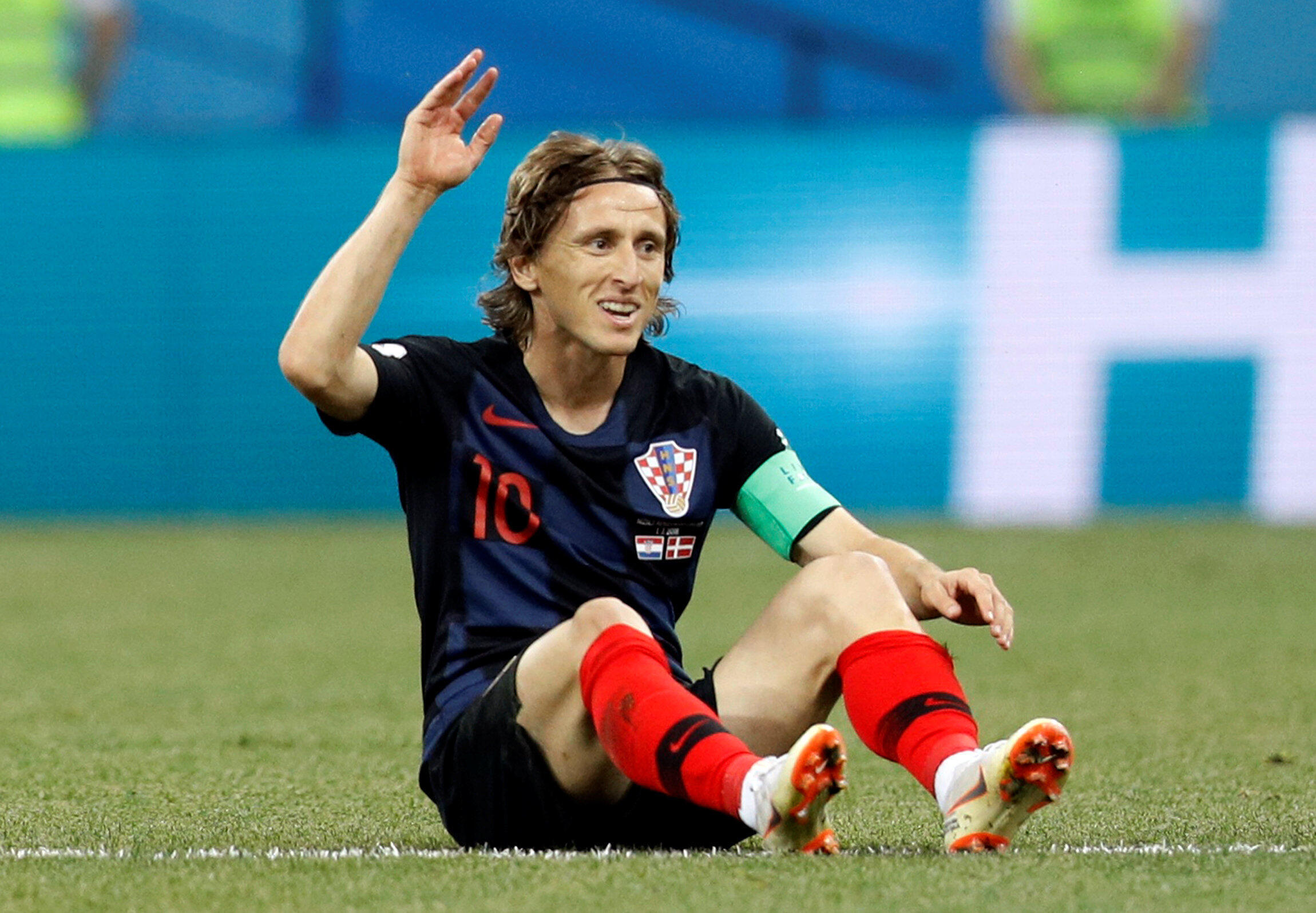 Le Croate Luka Modric, lors de la Coupe du monde 2018.