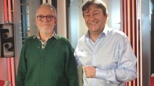 El artista uruguayo Miguel Nuñez Rauschert con Jordi Batallé