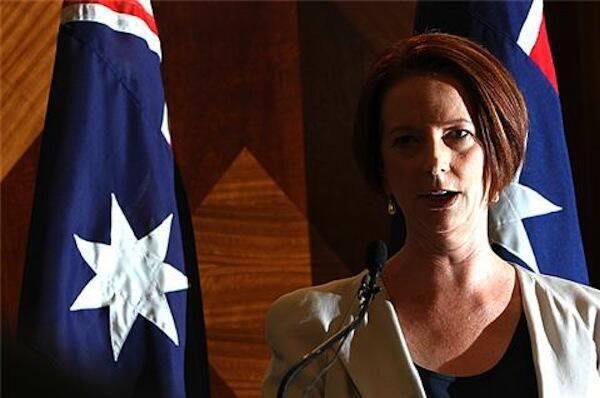 Waziri mkuu wa Australia, Julia Gilard wakati akitangaza mpango wa nchi yake kuondoa vikosi vyake nchini Afghanistan