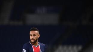 L'attaquant brésilien du Paris-SG, Neymar, lors du match de Ligue 1 face à Marseille, au Parc de Princes, le 13 septembre 2020