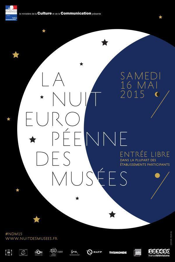 """Cartaz da """"Noite Europeia dos Museus""""."""