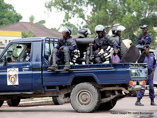 Police d'intervention rapide, à Kinshasa,  le 8 décembre 2011.