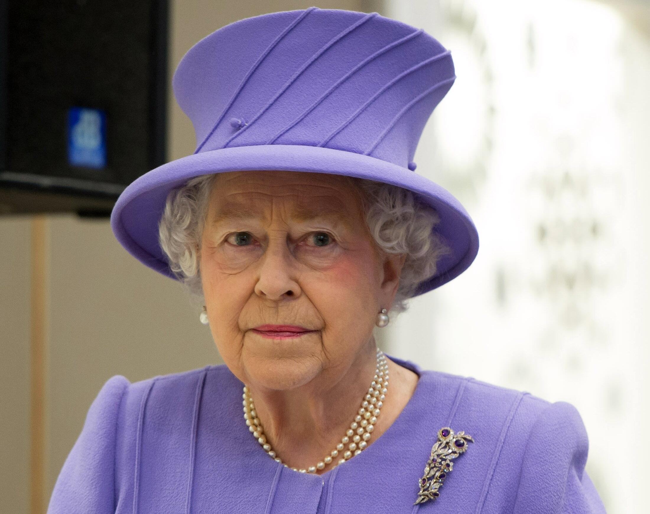 La reine d'Angleterre, Elisabeth II, présente aux commémorations de ce 06 juin 2014.