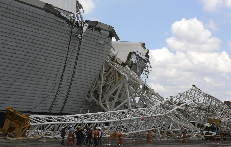 Acidente no estádio Itaquerão matou 3 operários nesta quarta-feira, 28 de novembro.
