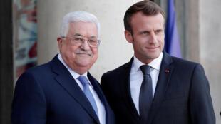 Encontro do Presidente Emmanuel Macron e do Presidente da Autoridade Palestiniana, Mahmoud Abbas- 21/09/2018