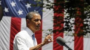 Barack Obama presentando su plan en la Universidad de Georgetown, este 25 de junio de 2013.