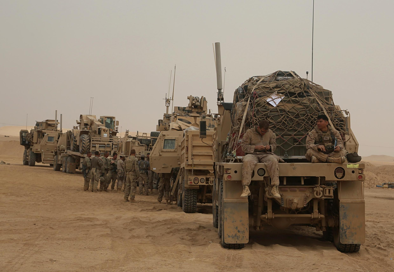 Des soldats américains dans l'ouest de l'Irak le 7 novembre 2017 (image d'illustration).