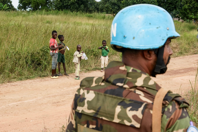 Un soldat de la Minusca en Centrafrique. (Illustration)