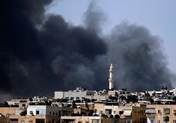 Irin lugudan wutan da ake yi a garin Aleppo