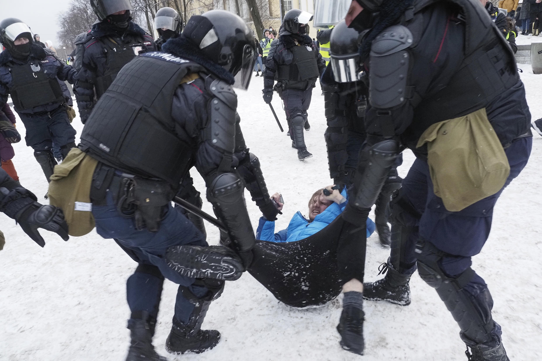 russie manifestation navalny moscou police