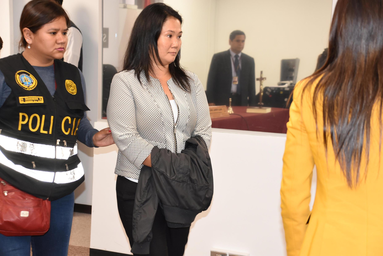 Лидер перуанской оппозиции Кейко Фухимори в зале суда, 10 октября 2018 года в Лиме