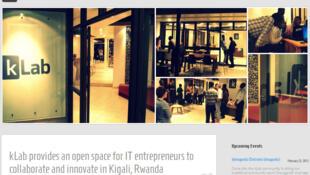 Page d'accueil du site internet kLab.