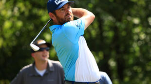 South Africa's Louis Oosthuizen on the way to a share of the 54-hole lead, along with teammate Charl Schwartzel, in the US PGA Tour Zurich Classic of New Orleans