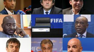 Huit candidats pour un siège de président de la Fifa.