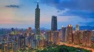 台湾台北晚景