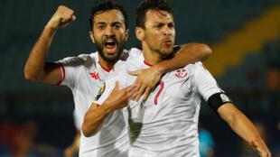 Taha Yassine Khenissi et Youssef Msakni l'ont emporté, avec la Tunisie, face à Madagascar.
