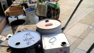 香港理大內有大量可供製造汽油彈的物品