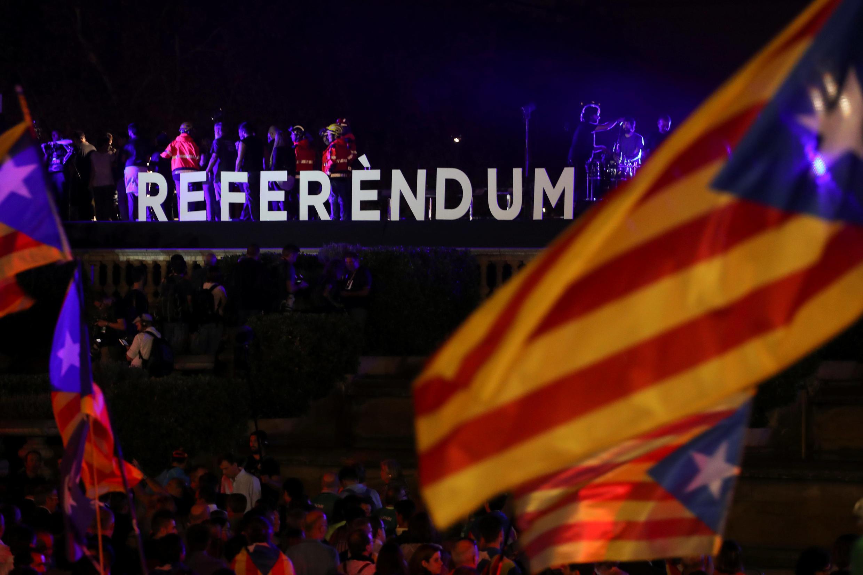 Khủng hoảng bùng lên tại Tây Ban Nha do việc Catalunya quyết tâm tổ chức trưng cầu dân ý đòi độc lập. Ảnh chụp tại Barcelona, ngày 29/09/2017.