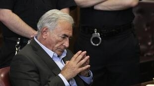 DSK during the court hearing on Thursday