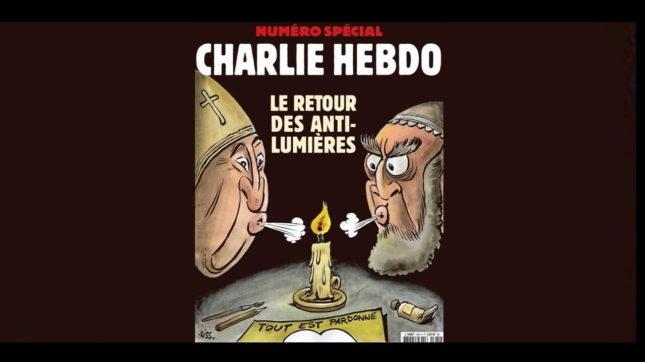 """Front of Charlie Hebdo edition of 5 January 2019, """""""