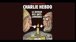 Front of Charlie Hebdo edition of 5 January 2019, ""