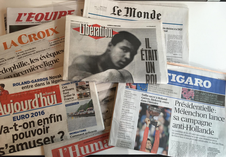 Primeiras páginas jornais franceses 06/06/2016