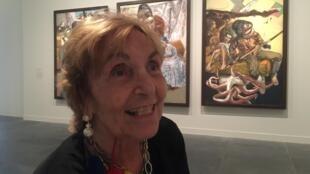 Paula Rego au Musée de l'Orangerie à Paris, 16 Octobre 2018.