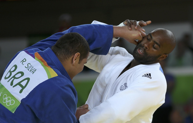 Rafael Silva perdeu na repescagem para o francês Teddy Riner, bicampeão olímpico da categoria peso-pesado.