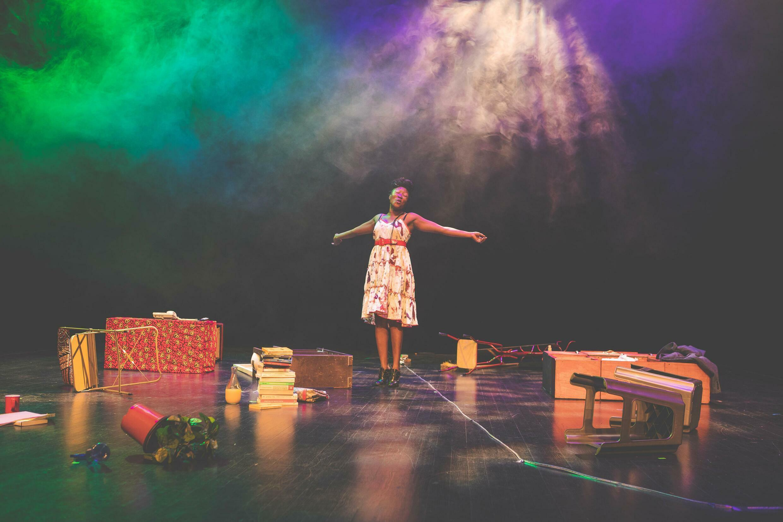 « Et que mon règne arrive », une mise en scène d'Odile Sankara d'après un texte de la Camerounaise Leonora Miano, création aux Francophonies 2021 à Limoges. © Christophe Pean