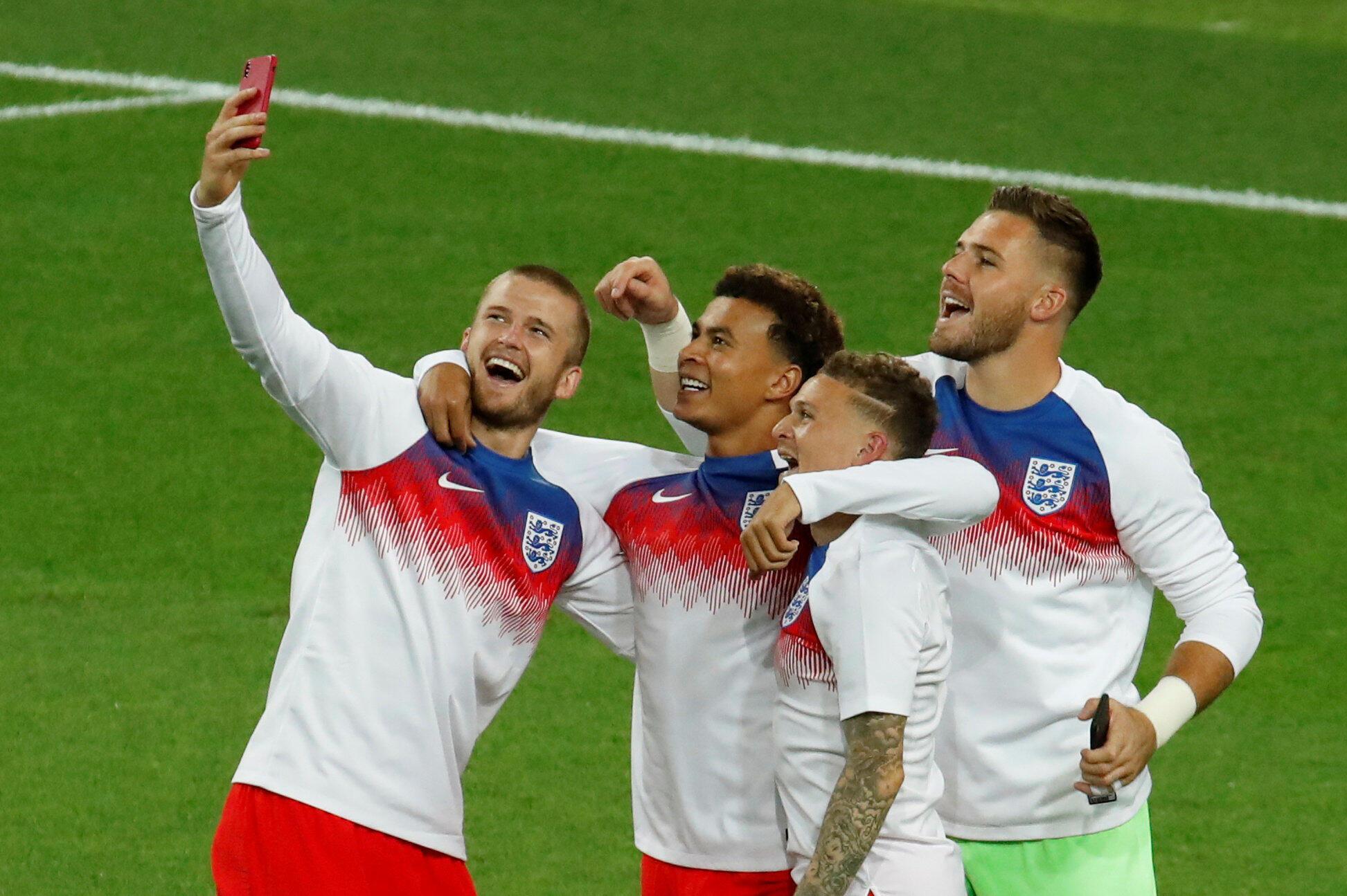 La joie des Anglais après la victoire face à la Colombie, le 3 juillet 2018.
