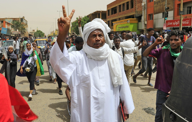 Una manifestación contra el gobierno de Sudán convocada en Jartum ek 30 de junio de 2021