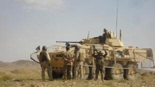 Soldats de l'Isaf dans la province de Ghazni, le 21 décembre 2011.