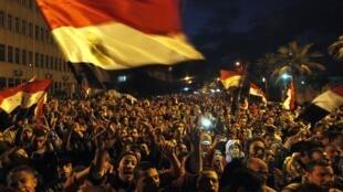 Sexta-feira reuniu público recordo em manifestações, como esta em Alexandria.