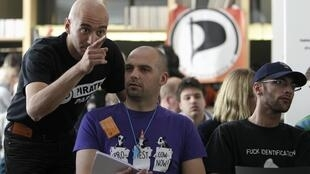 Les délégués du Parti pirate international (PPI) à la conférence de Prague, le 14 avril 2012.