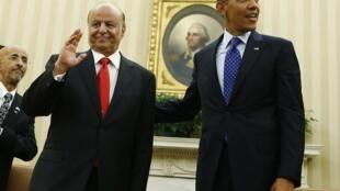 Barack Obama et Abd Rabbo Mansour  Hadi à la Maison Blanche le 1er août 2013.