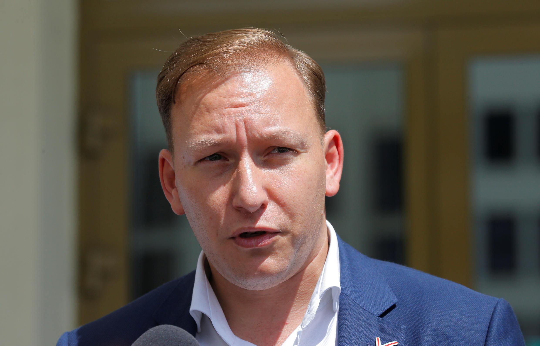 Кандидат в президенты Беларуси Андрей Дмитриев. Минск, 14 июля 2020