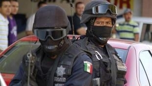 Police in Apatzingan on Friday