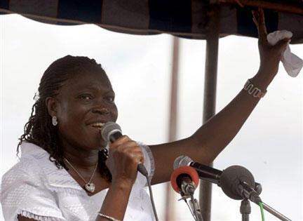 Mme Simone Gbagbo, épouse de l'ancien chef de l'Etat ivoirien.