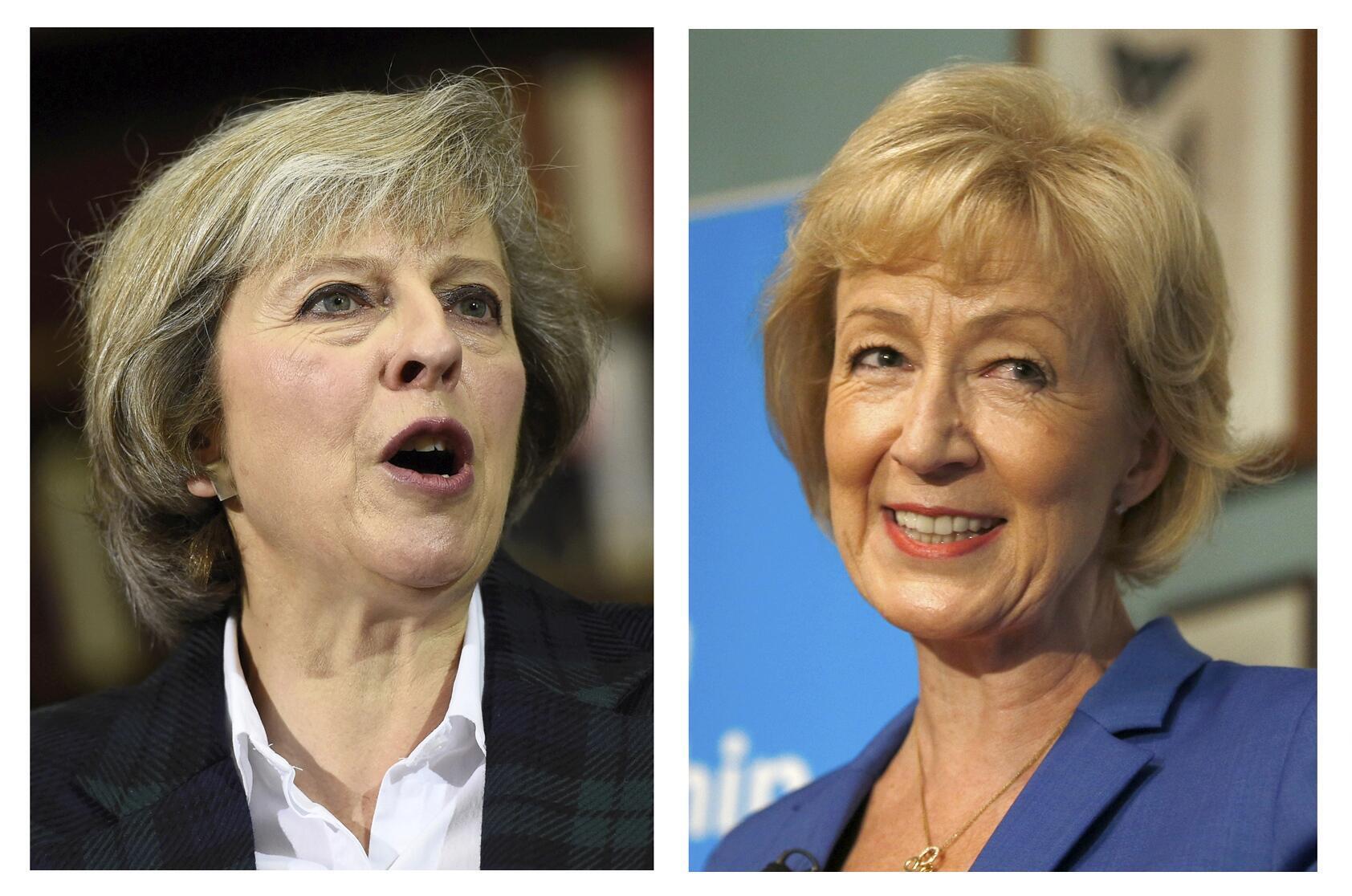 Theresa May (à gauche) et Andrea Leadsom vont s'affronter pour prendre la tête du parti conservateur britannique.
